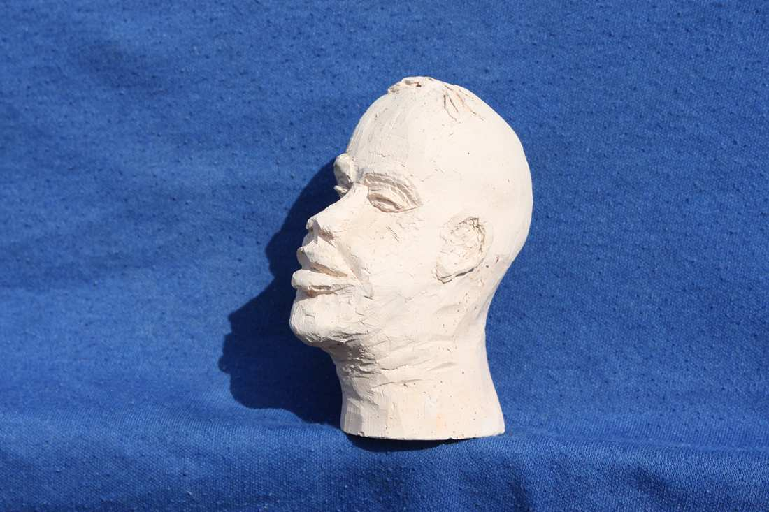 Fired clay head